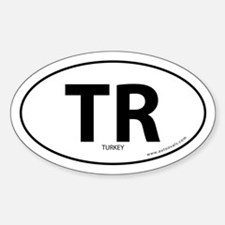 Turkey country bumper sticker -White (Oval)