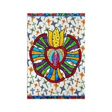 Guadalupe Red Milagro Rectangle Magnet