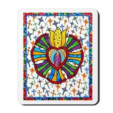 Guadalupe Red Milagro Mousepad