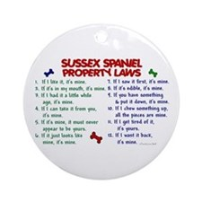 Sussex Spaniel Property Laws 2 Ornament (Round)