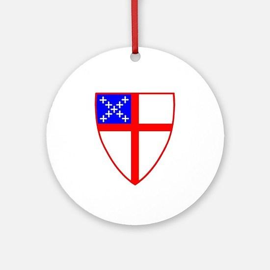 Episcopal shield ornament (Round)