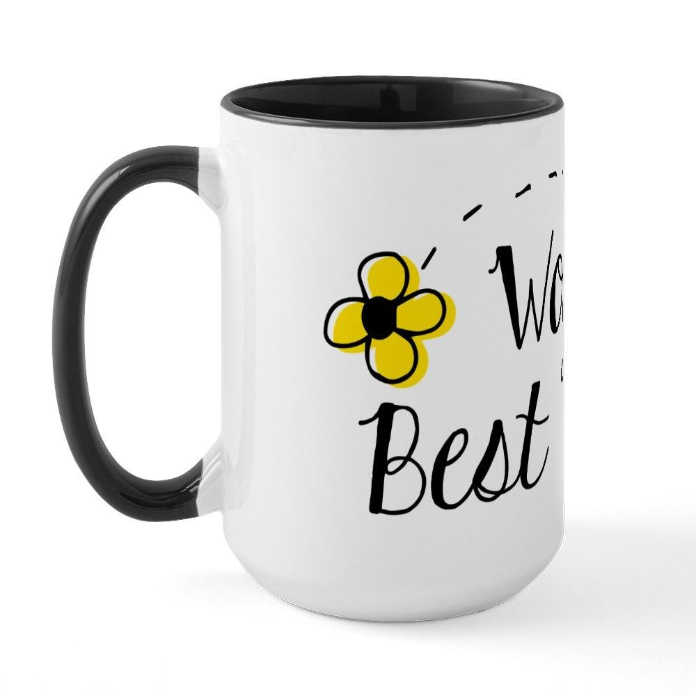 CafePress World/'s Best Teacher Large Mug 195479310