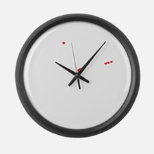 Funny Efrain Large Wall Clock
