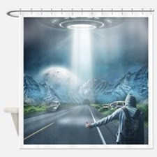 Catching a Ride Shower Curtain