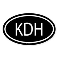 KDH Oval Decal