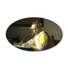 A Lady Writing by Johannes Vermeer Wall Decal