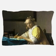 A Lady Writing by Johannes Vermeer Pillow Case