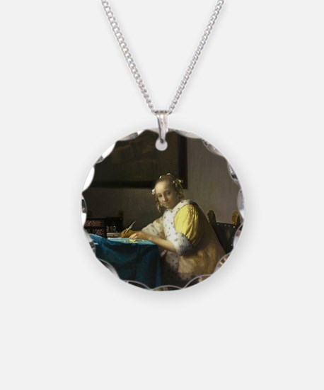 A Lady Writing by Johannes Vermeer Necklace