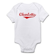Charlotte Vintage (Red) Onesie