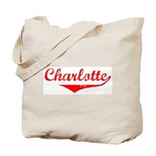 Charlotte Vintage (Red) Tote Bag