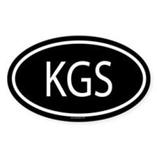 KGS Oval Decal