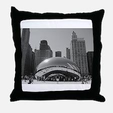 Bean, Chicago Throw Pillow