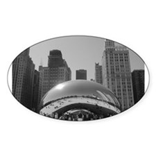 Bean, Chicago Oval Decal