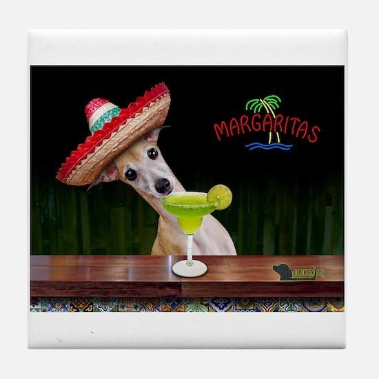 Cute Margarita Tile Coaster