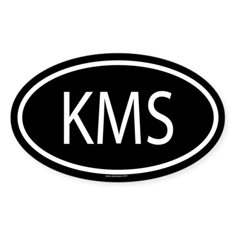 KMS Oval Sticker
