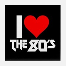I Heart The 80s Tile Coaster
