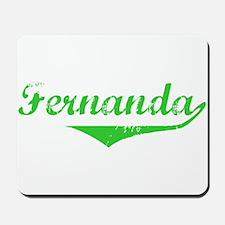 Fernanda Vintage (Green) Mousepad