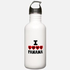 I Love Panama Water Bottle