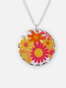 1960s vintage mod floral pin Necklace