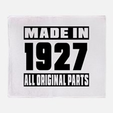 Made In 1927 Throw Blanket