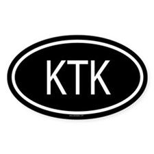 KTK Oval Bumper Stickers