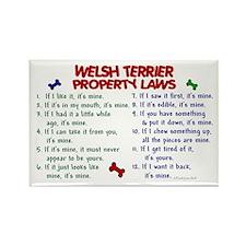 Welsh Terrier Property Laws 2 Rectangle Magnet (10