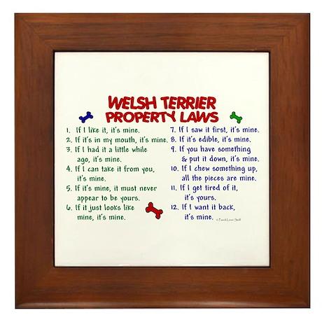 Welsh Terrier Property Laws 2 Framed Tile