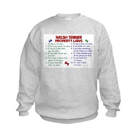 Welsh Terrier Property Laws 2 Kids Sweatshirt