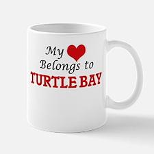 My Heart Belongs to Turtle Bay Hawaii Mugs