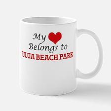 My Heart Belongs to Ulua Beach Park Hawaii Mugs