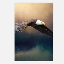 Flying american bald eagle Postcards (Package of 8