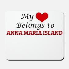 My Heart Belongs to Anna Maria Island Fl Mousepad