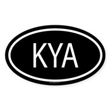 KYA Oval Decal
