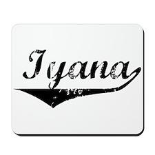 Iyana Vintage (Black) Mousepad