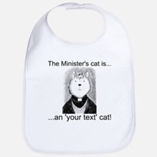 Personalised The Minister's Cat Bib