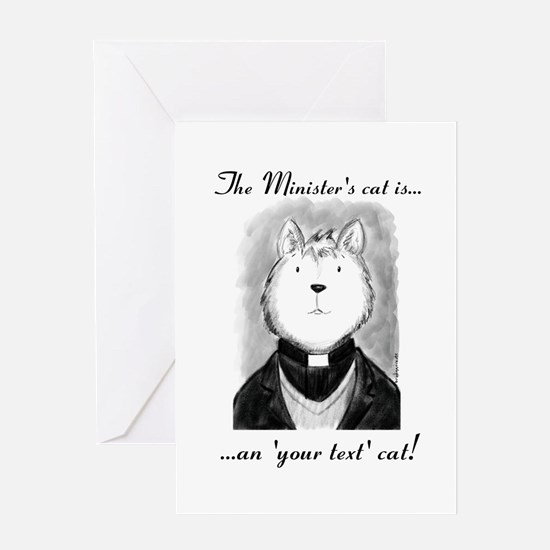 Personalised The Minister's Cat Greeting Cards