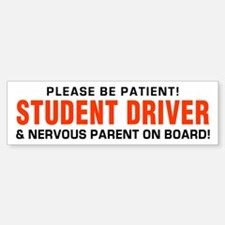 Student Driver and Parent Red Bumper Bumper Bumper Sticker