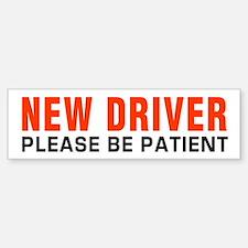 New Driver Be Patient inRed Bumper Bumper Bumper Sticker