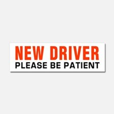 New Driver Be Patient inRed Car Magnet 10 x 3