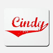 Cindy Vintage (Red) Mousepad