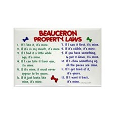 Beauceron Property Laws 2 Rectangle Magnet (10 pac