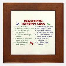 Beauceron Property Laws 2 Framed Tile