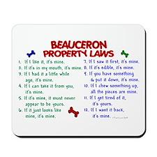 Beauceron Property Laws 2 Mousepad
