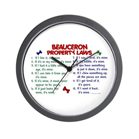 Beauceron Property Laws 2 Wall Clock