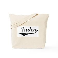 Jaden Vintage (Black) Tote Bag