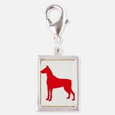 Doberman Two 1C Red Charms