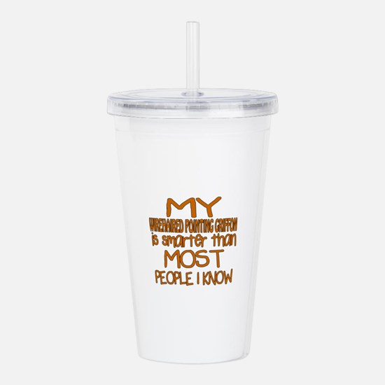 My Wirehaired Pointing Acrylic Double-wall Tumbler