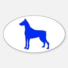 Doberman Two 1C Blue Decal