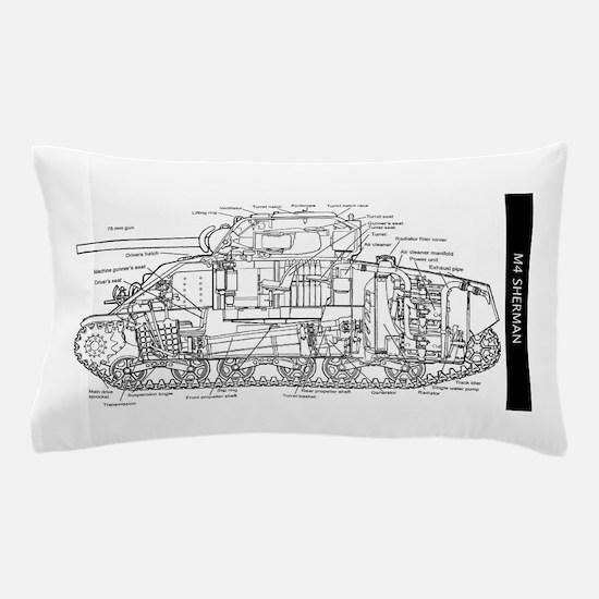 M4 SHERMAN CUTAWAY Pillow Case