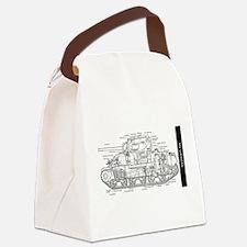M4 SHERMAN CUTAWAY Canvas Lunch Bag